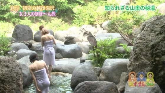 【放送事故画像】濡れた体と一枚のバスタオルがエロく見える、温泉美人たちww 02