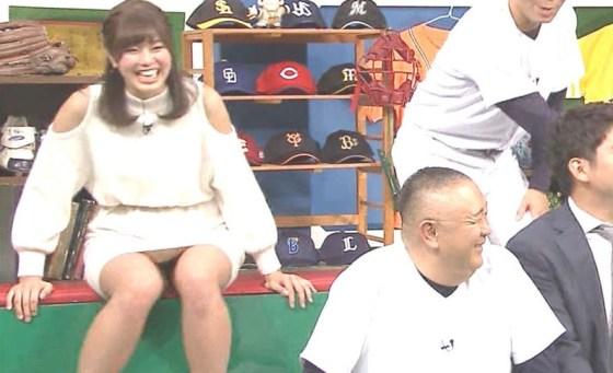 【放送事故パンチラ画像】そんな短いスカート履いてたらほらぁ・・・www 05