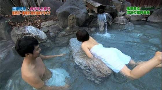 【放送事故画像】温泉レポやってても効能より絶対谷間の方が気になるよなwww 15
