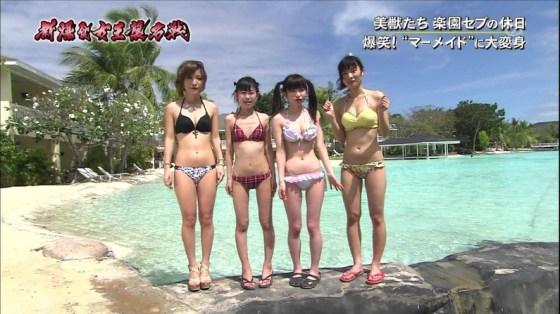【放送事故画像】やべ!オッパイが水着からこぼれ落ちそうだぞwww 10