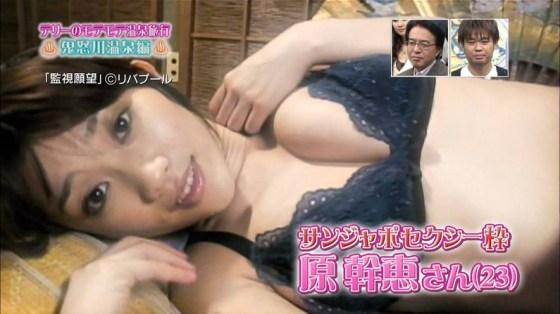 【放送事故画像】テレビで下着紹介するモデルのオッパイがエロすぎてもはや下着なんかどぉでもいいww 10
