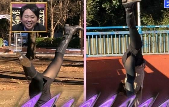 【放送事故画像】テレビで思いっきり開脚した結果股関節の隙間から黒い物がwww 13