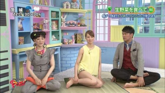 【放送事故画像】アイドルや女子アナの太ももが付け根の方まで見えてたまらんごwww 24