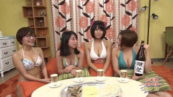 【オッパイキャプ画像】アイドル達がビキニ着てテレビに映る時はポロリ期待するよなw 13