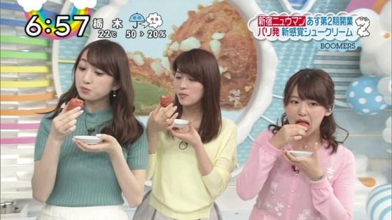 【擬似フェラ画像】エロい表情で食レポする女子アナ達の擬似フェラテクニックがやばいww 17