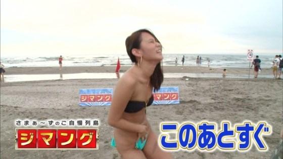 【水着キャプ画像】素人に水着インタビューと称してオッパイ映しまくりのエロインタビューww 24
