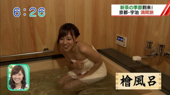 【入浴キャプ画像】芸能人の入浴シーンでバスタオルから見える谷間みて興奮しないやついるの?ww 21