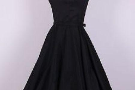 155065342 50s audrey hepburn style black dress size l pinup