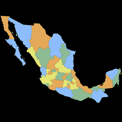 3D model Mexico Map   CGTrader Mexico Map 3D model