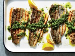 Magnificent Grilled Rainbow Trout Chimichurri Recipe Cooking Light Charcoal Grilled Trout Recipes Grilled Whole Trout Recipes
