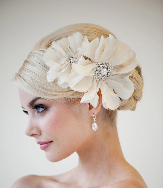 bridal head piece bridal fascinator wedding headpiece zoom