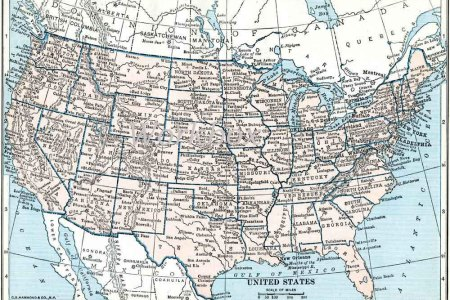 vintage united states of america map digital download by