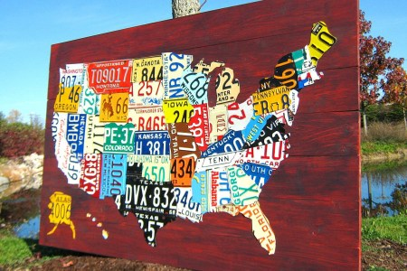 extra large license plate map of the united states 60 x