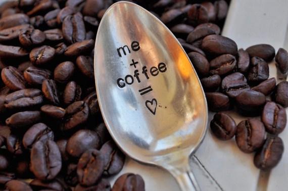 ME plus COFFEE equals LOVE