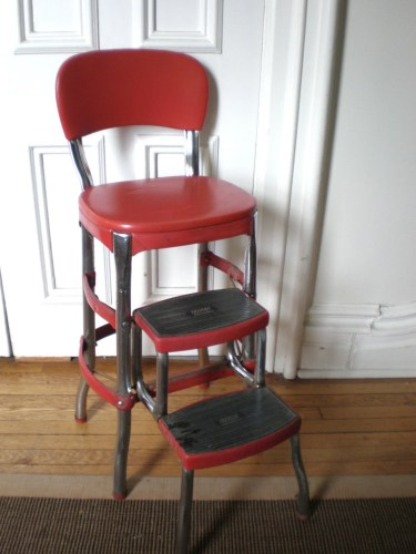 red cosco kitchen chair with step stool kitchen chair zoom