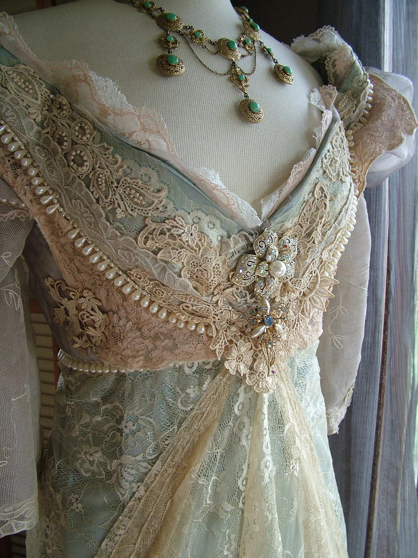 original handmade vintage inspired handmade wedding dresses zoom