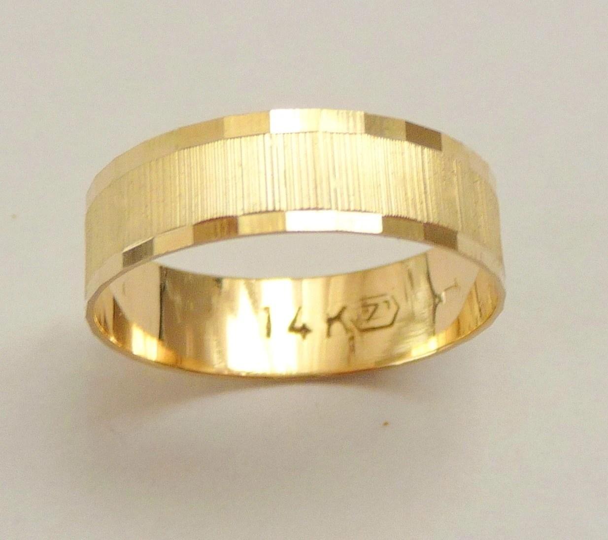 gold wedding band men wedding ring 6mm wedding ring men zoom