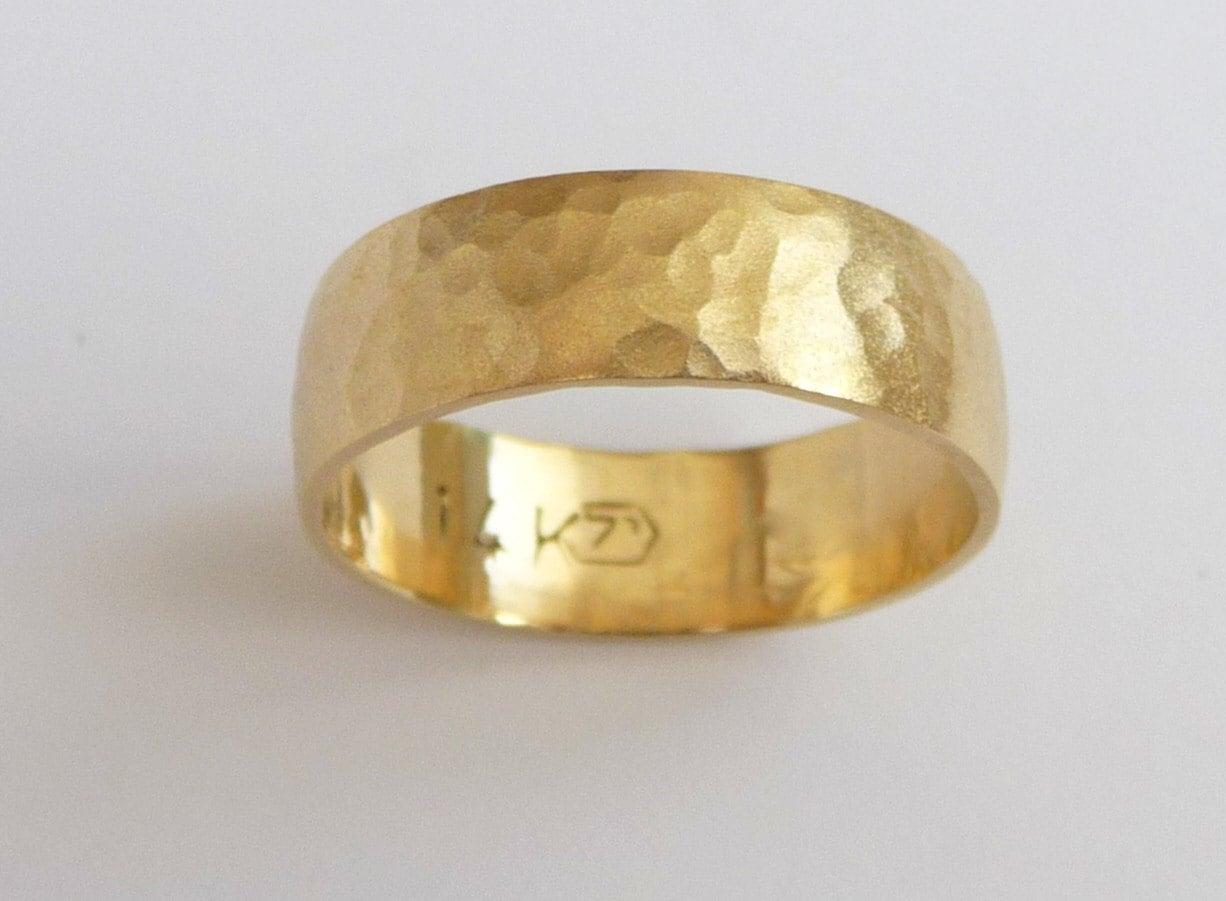 mens wedding band 14k gold wedding ring gold mens wedding bands zoom
