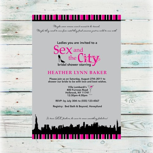 sex and the city bridal shower etsy wedding shower invitations Bridal Shower Invitation DIY Digital File zoom