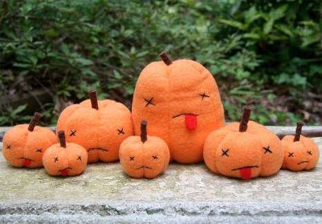 Dead Pumpkins Halloween Plush by Musers