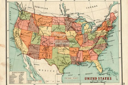 vintage usa map 1930s united states of by vintageinclination