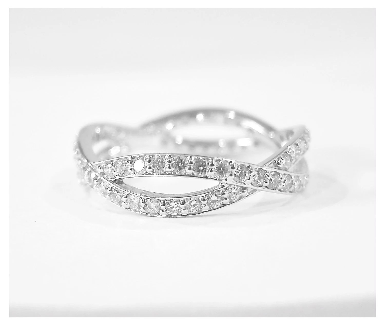 14k gold diamond eternity infinity ring infinity diamond wedding band zoom