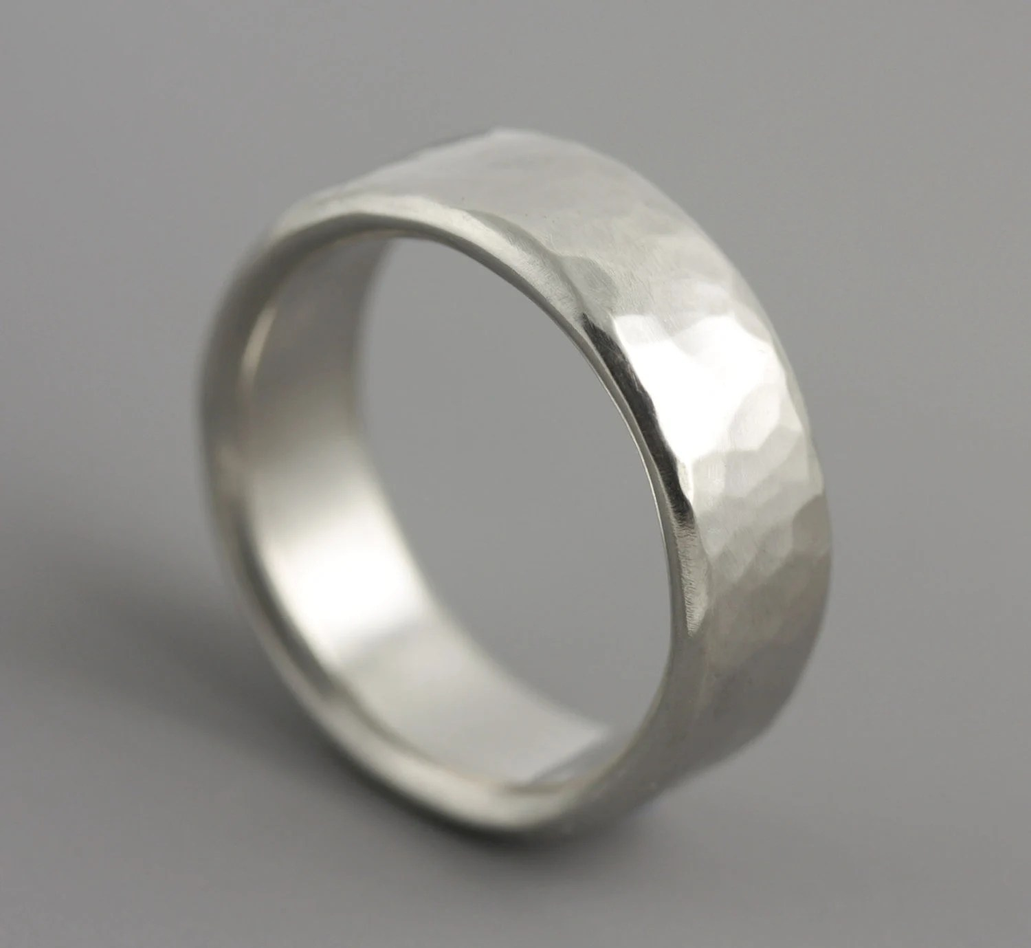 mans hammered palladium wedding ring wedding bands men zoom