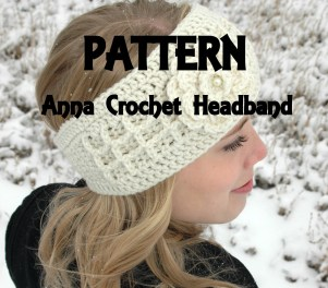 Anna Crochet PDF PATTERN for Headband headwrap and flower