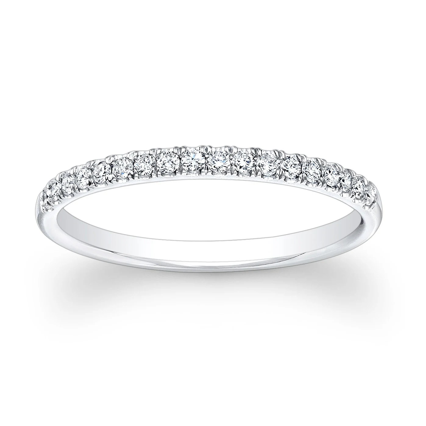 pave diamond band platinum diamond wedding bands Ladies 18kt white gold diamond wedding band 0 20 ctw G VS2 diamonds