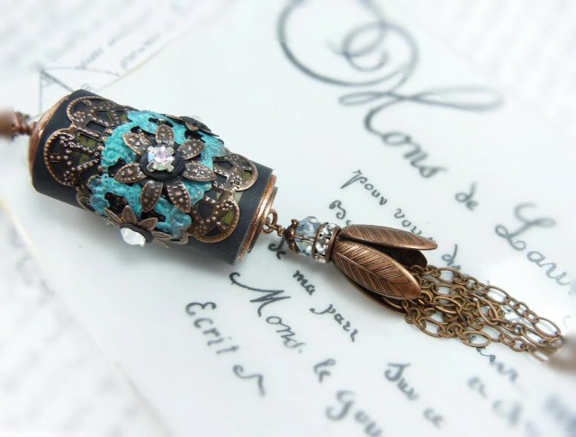 Handmade Wine Cork Necklace via Etsy