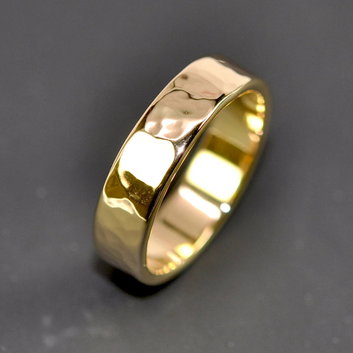18k yellow gold mens wedding band wedding bands men zoom