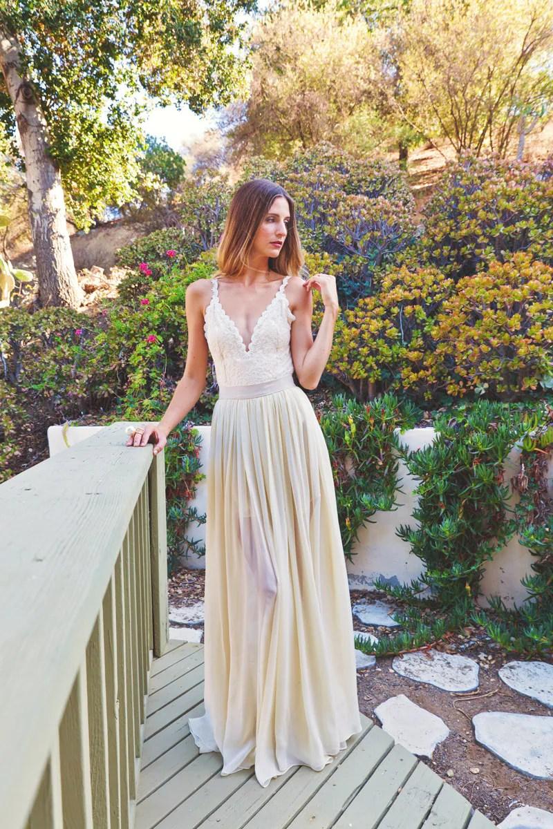 2 piece lace backless wedding dress 2 piece wedding dresses zoom