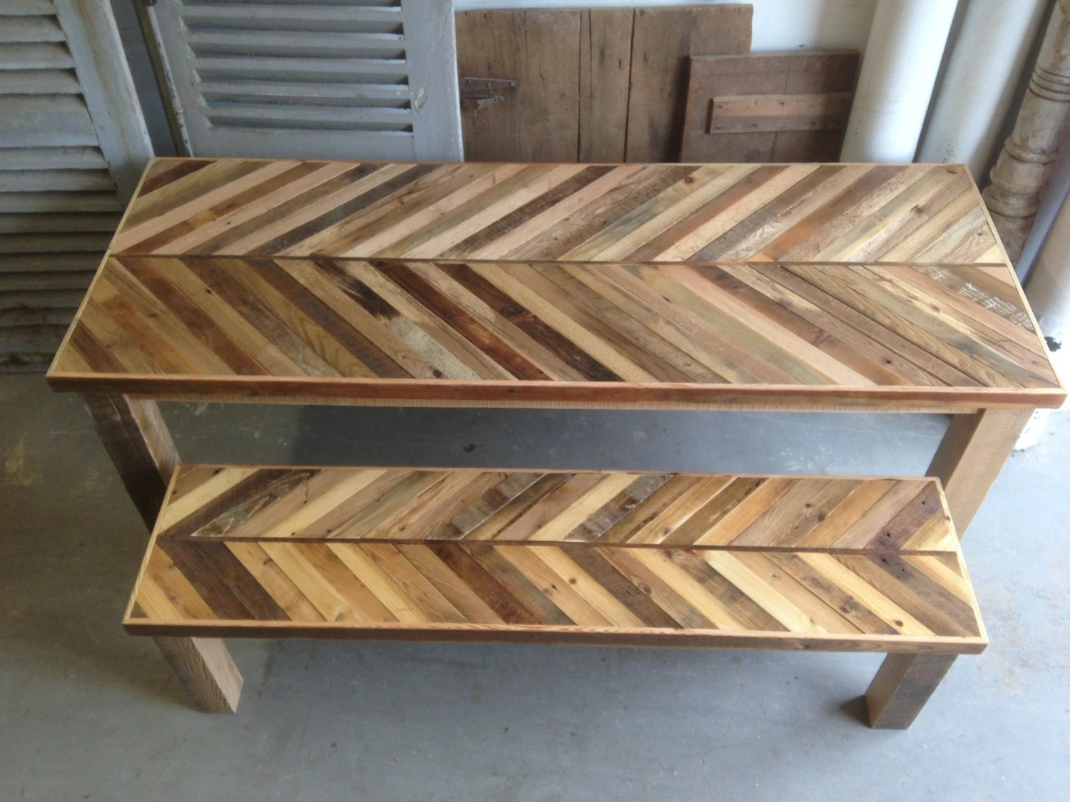 reclaimed pallet and barn wood kitchen rustic kitchen tables zoom