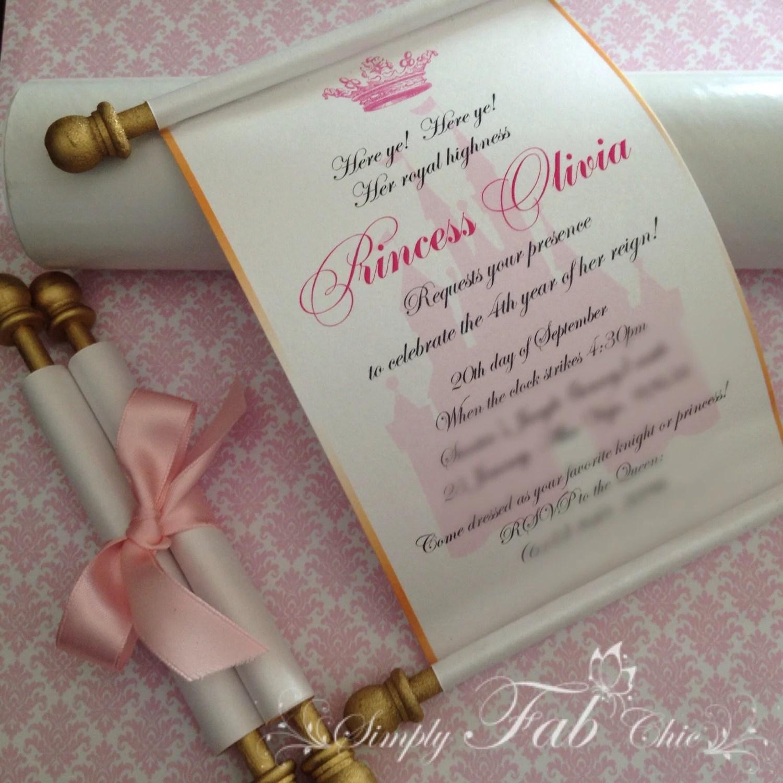 scroll invitations cinderella wedding invitations Royal Disney Princess Scroll Invitation Birthday Wedding Invitation Handmade Prince Invitation Christening Birth Announcement Set of 10