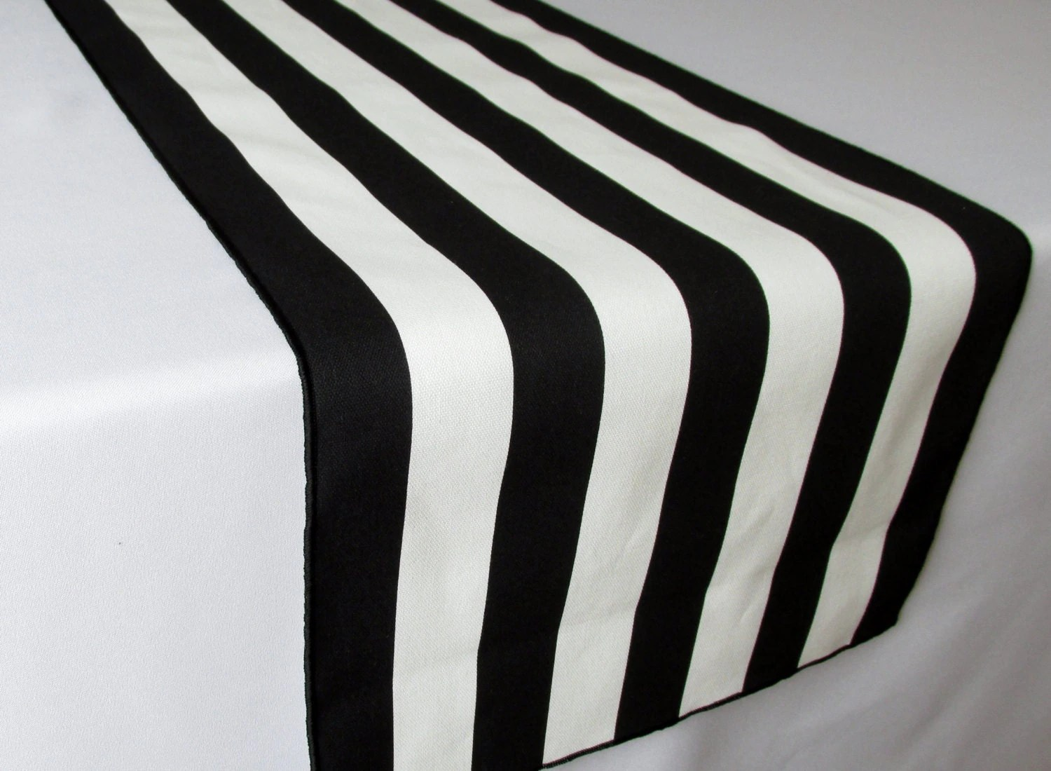 wedding table runner wedding table runners Black and White Striped Table Runner Wedding Table Runner black edge Select A Size READY TO SHIP
