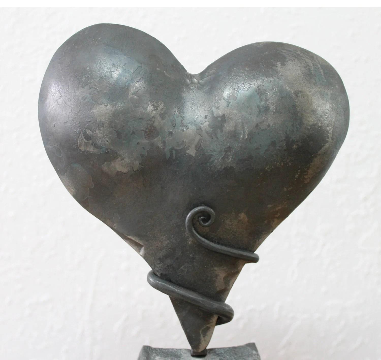 iron anniversary gift heart sculpture 6th wedding anniversary gift anniversary gifts 6th Wedding Anniversary zoom