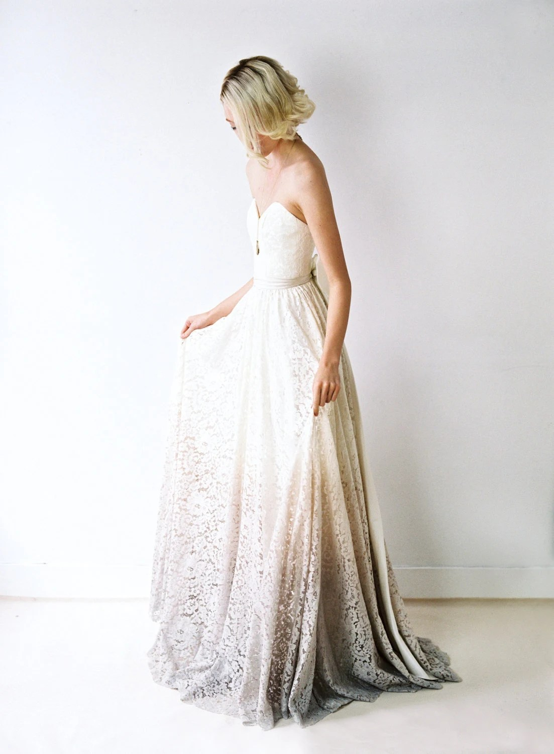 taylor a dip dyed lace wedding gown tie dye wedding dress zoom
