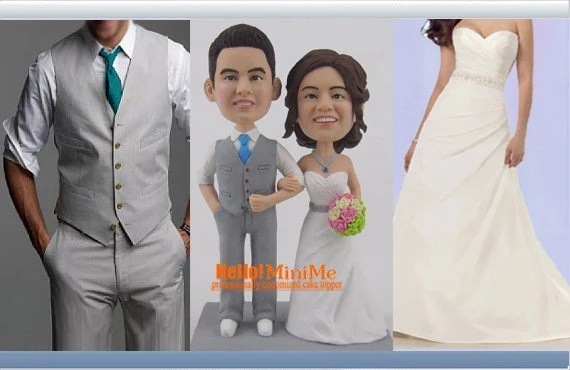 Custom Handmade Wedding Cake Topper