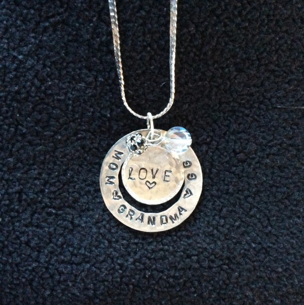 Personalized Hand Stamped Mother, Grandmother, GG Necklace