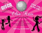 Disco dance  Birthday inv...