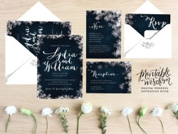Engaging Winter Wedding Invitation Suite Printable Wedding Invite Vintage Stylesnowflake Wedding Invitation Diy Digital Invitation Printable Pinterest Our Winter Wedding Invitations