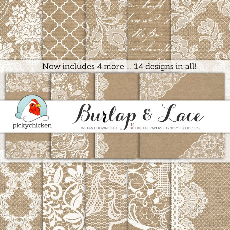 Large Of Burlap And Lace