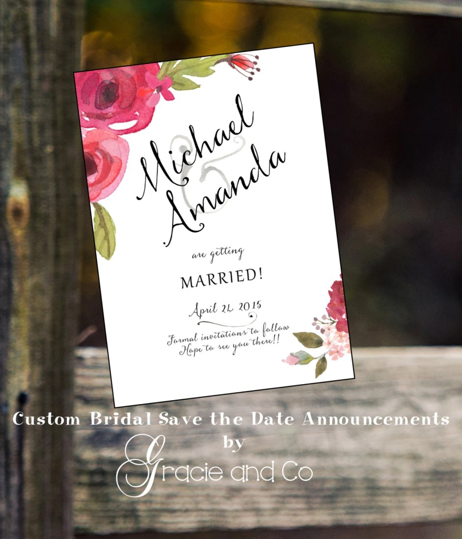 Bridal save the date anno...