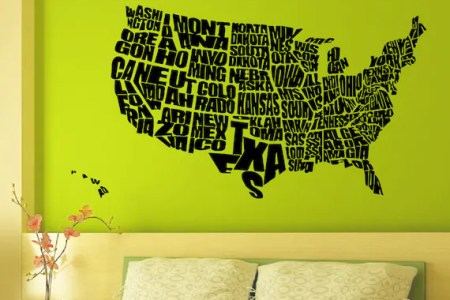 items similar to vinyl wall decals united states us map