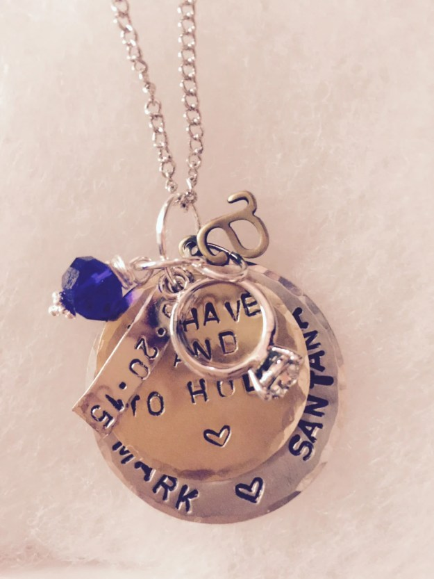 Personalized Hand Stamped Bride to be or Bride Charm Necklace