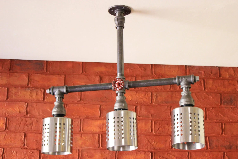 industrial kitchen island bar light industrial kitchen light fixtures Pendant light Steampunk ceiling light fixture Industrial Pipe zoom