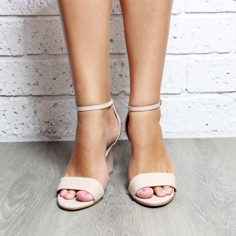 wedding wedge shoes Wedge Heels Nude