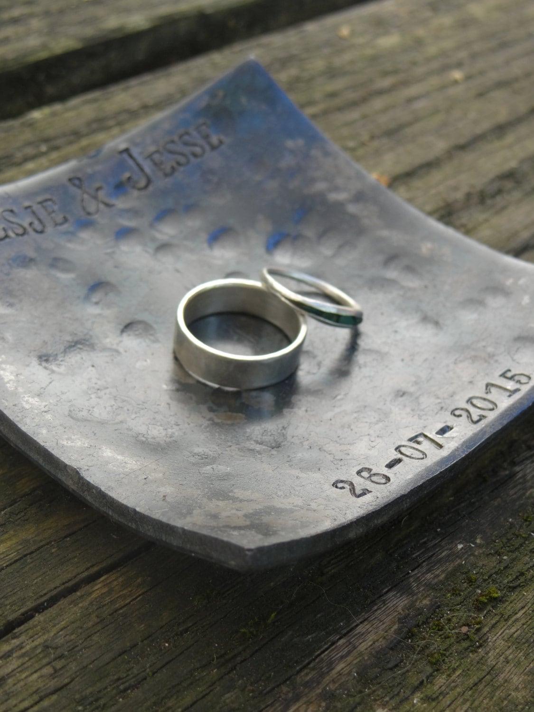 6th anniversary gift 6th wedding anniversary gift 6th anniversary gift for her iron anniversary gift wedding ring dish for him 11th steel anniversary wedding gift ring bearer