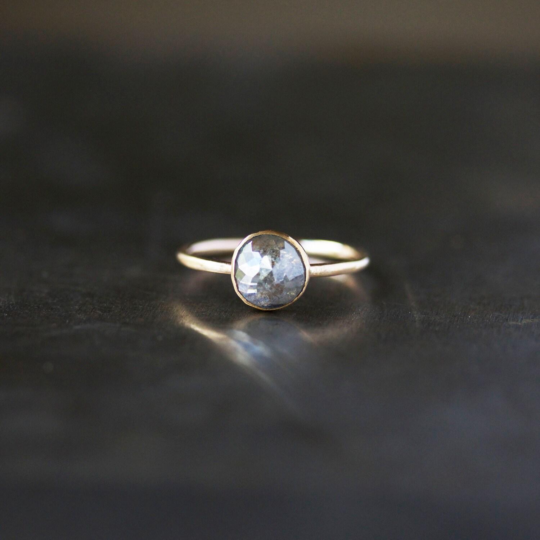 rose cut diamond ring unique engagement unique wedding rings zoom