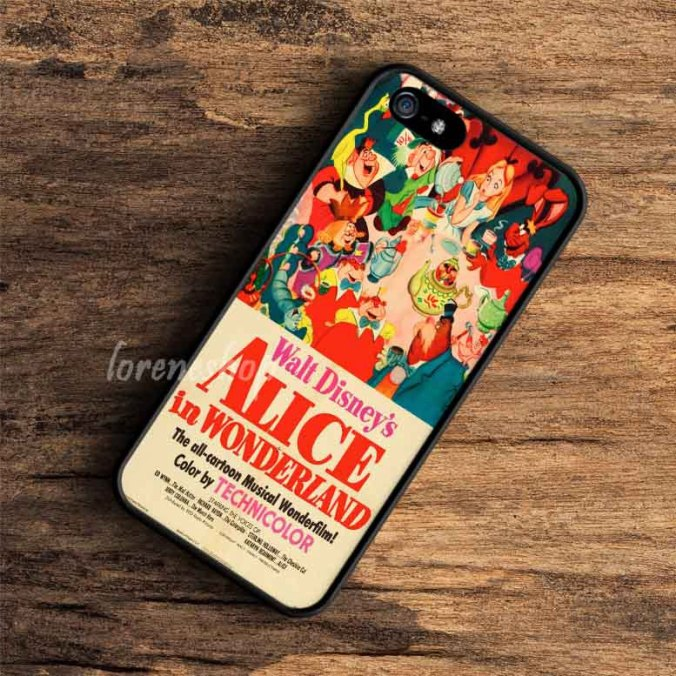 Vintage Disney Posters Alice In Wonderland iPhone case, iPod case, Samsung case, HTC case & Xperia Case available plastic and rubber case